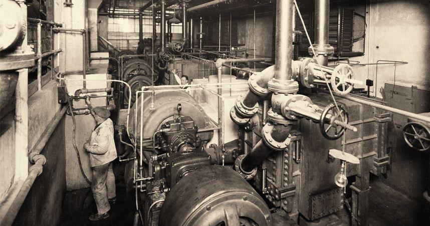 Foto da primeira fábrica